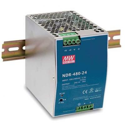 D-Link 480W, 48VDC, DIN Rail PSU Power supply unit - Roestvrijstaal