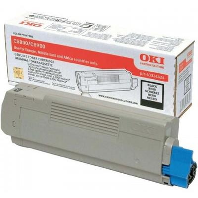 OKI cartridge: Tonercartridge voor C5800/C5900, Zwart