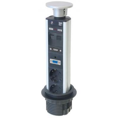 Kondator energiedistributie: Smartline PopUp Conference - 2x Power, 2x Data, 2x USB, 1x VGA, 1x HDMI Ø80mm - .....