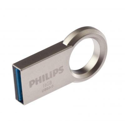 Philips USB flash drive: USB Flash Drive - Roestvrijstaal
