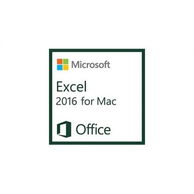 Microsoft spreadsheet software: Excel 2016 for Mac, 1u