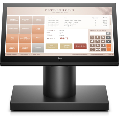 HP ElitePOS Engage One Allt-i-ett-system, modell 141 POS terminal - Zwart