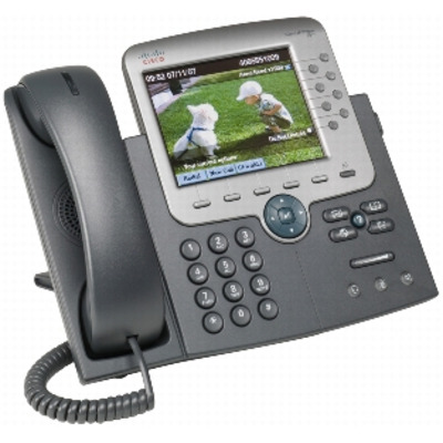 Cisco Unified IP Phone 7975G w/ 1 RTU License Dect telefoon - Zwart, Zilver