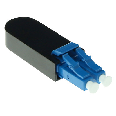 ACT Fiber optic LC loopback adapter Kabel adapter - Zwart