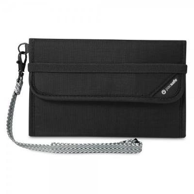 Pacsafe portemonnee: V250 - Zwart