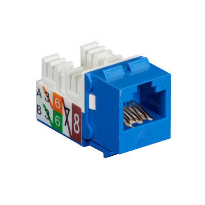 Black Box GigaTrue2 CAT6 Jack, Universal Wiring, Component Level, Single-Pack, Blue - Blauw