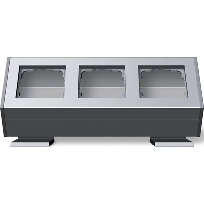 GIRA Profiel 55 met bevestigingshoek drievoudig - Aluminium