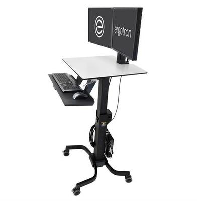 Ergotron WorkFit-C, Dual Sit-Stand Multimedia kar & stand - Zwart, Grijs