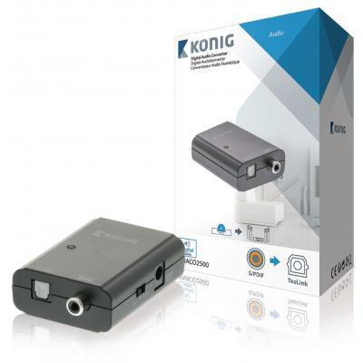 König hardware: Konig, Digitale Audio Omvormer 1x S/PDIF - TosLink Female (Donkergrijs)