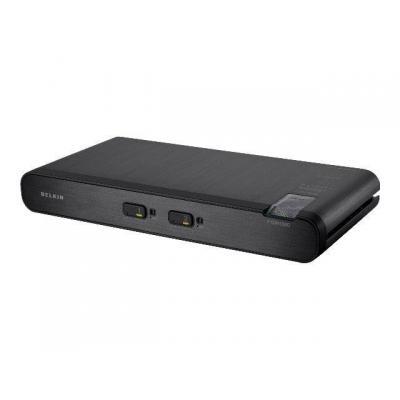 Belkin KVM switch: F1DN102C - Zwart
