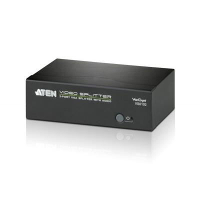 Aten video splitter: 2-Port VGA Splitter with Audio  - Zwart