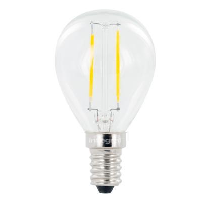 Integral hardware: E14 Omni Filament Mini Globe LED Lamp, 2700K, 2.0W, 250 Lumen, non dimmable