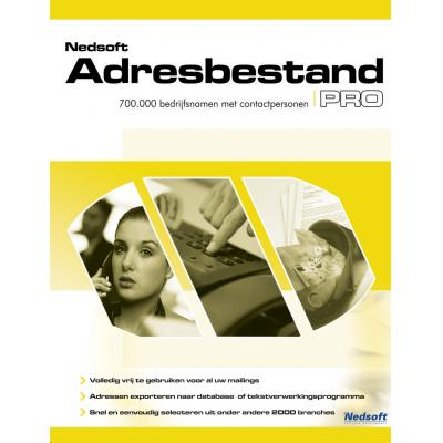 Nedsoft software suite: Adressenbestand Pro