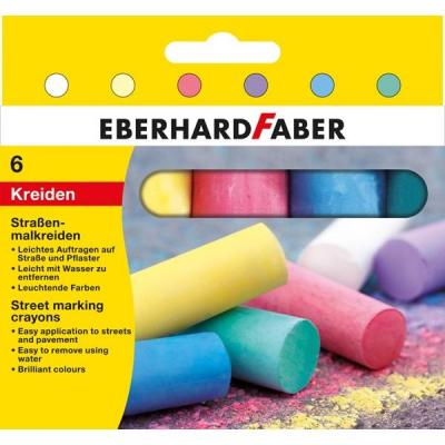 Eberhard faber : Street marking crayons, Cardboard box of 6 - Multi kleuren