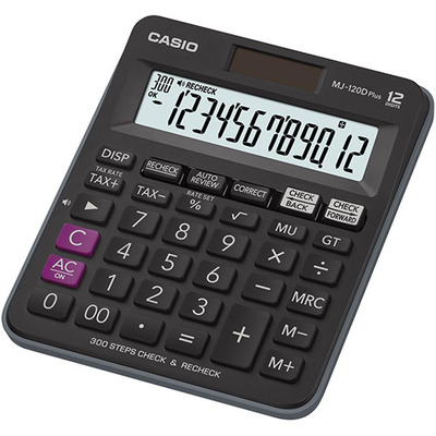 Casio MJ-120D Plus Calculator - Zwart