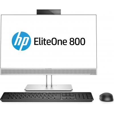 Hp all-in-one pc: EliteOne 800 G3 - Zwart, Zilver (Renew)