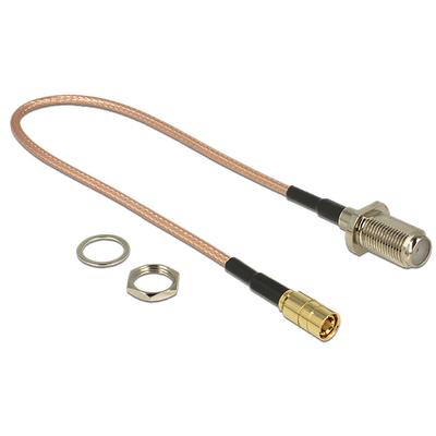 DeLOCK 1 x F jack, 1 x SMB, RG-316, 25 cm Coax kabel - Bruin