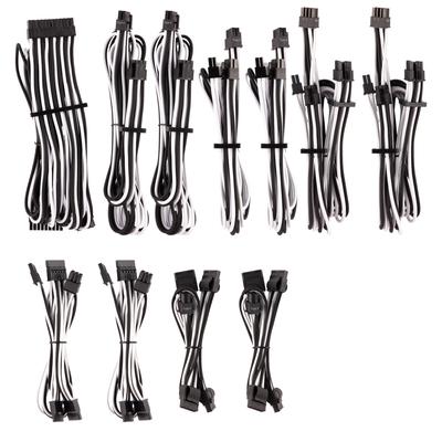 Corsair PSU Cables Pro Kit Type 4 Gen 4 – White/Black - Zwart,Wit