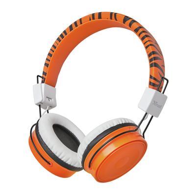 Trust Comi Headset - Zwart, Oranje, Wit