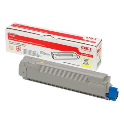 OKI cartridge: Yellow Toner Cartridge for C8600
