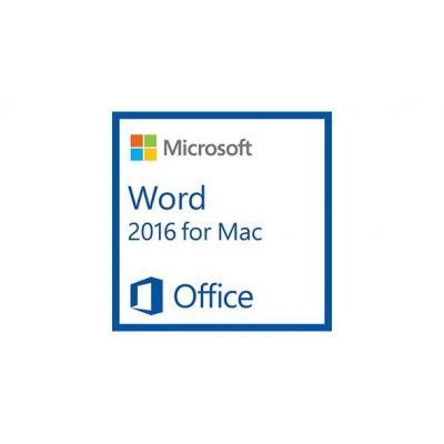 Microsoft tekstverwerker: Word for Mac 2016, 1u