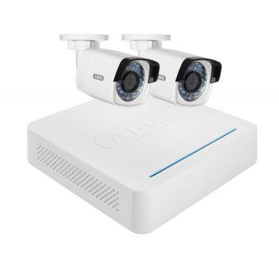 "Abus video toezicht kit: 2 WLAN-buitencamera's IP66 1280 x 720, 4-kanaals recorder 2.5"" SATA HDD 1TB, 200 x 45 x 200mm ....."