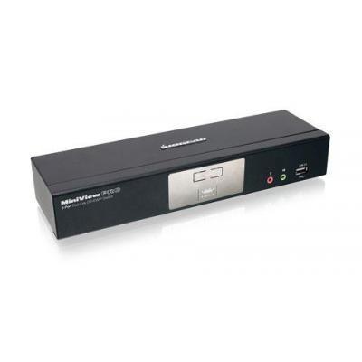 Iogear 2-Port Dual-Link DVI KVMP Pro with 7.1 Audio KVM switch - Zwart