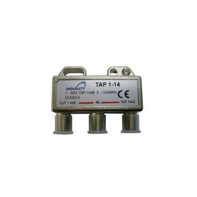 Digiality kabel splitter of combiner: Antenna 1-Way Tap 14 dB split 5-1000 MHz