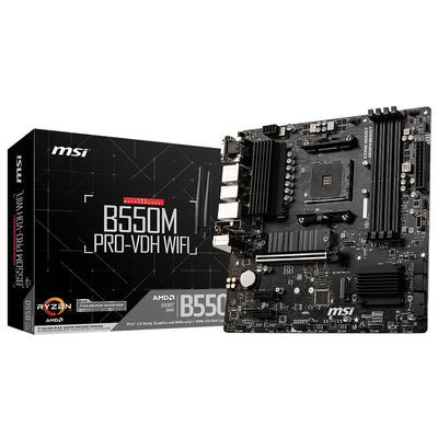 MSI AMD B550, AM4, 4x DDR4, HDMI, DP, VGA, SATA III, M.2, USB 3.2, 1G LAN, Micro-ATX, 244x244 mm Moederbord