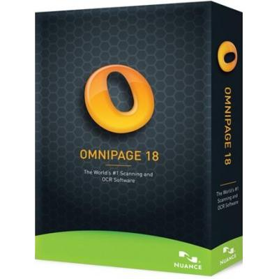Nuance grafische software: OmniPage 18, NL