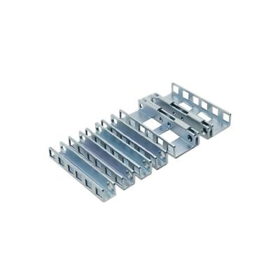 Dell rack toebehoren: Rackadapterkit met schroefgaten voor 2 units voor glijdende ReadyRails - Aluminium