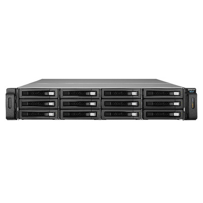 "QNAP 12x 3.5""/2.5"", SAS/SATA, HDD/SSD, 12Gbp/s SAS, 2U, ATX Power Supply, 400W SAN - Zwart"