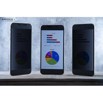 KAPSOLO 2-Way Adhesive Privacy Screen / Privacy Filter for Xiaomi Mi A3 Schermfilter - Transparant