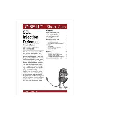 O'reilly boek: Media SQL Injection Defenses - eBook (PDF)