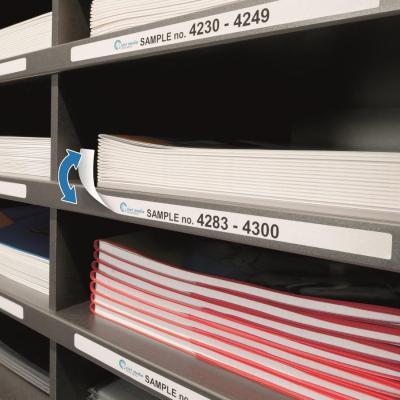 Herma etiket: Removable inscription strips A4 192x10 mm white Movables/removable paper matt 675 pcs. - Wit