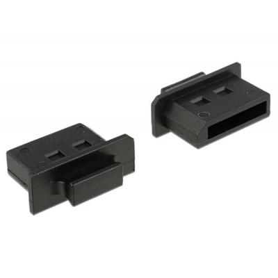 Delock fitting-cove: Dust Cover for Displayport female with grip 10 pieces black - Zwart