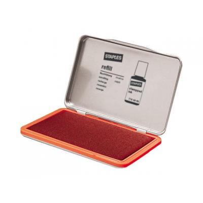 Staples stempel inkt: Stempelkussen SPLS 11x7cm 7711401 rood
