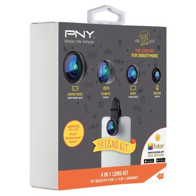 PNY The Lens Kit 4-IN-1 - Zwart