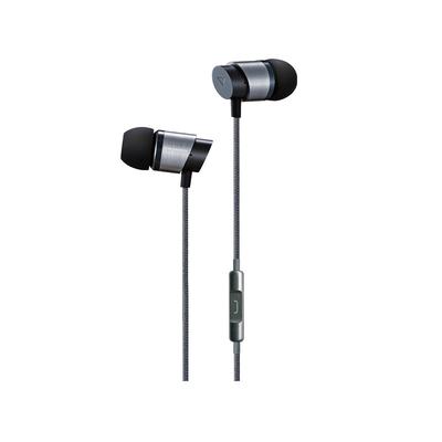 Lasmex ø 9 mm, 16 Ω, 20Hz - 20KHz, 93±3dB, 3 Ear buds Headset - Zwart,Roestvrijstaal