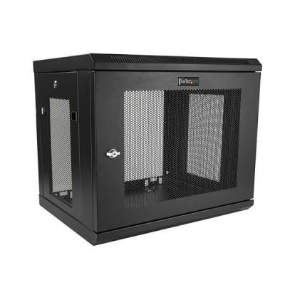 """Startech.com rack: 9U Serverkast rack wand monteerbaar diepte tot 17"""" / 43 cm scharnierende behuizing - Zwart"""