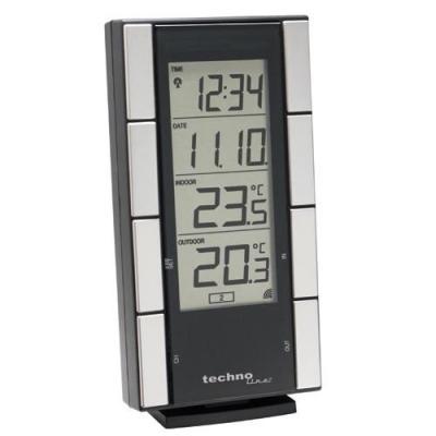 Technoline wekker: WS 9765 IT - Temperature Station / much advertising space - Zwart, Zilver