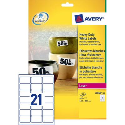 Avery 63.5 x 38.1 mm, 420 pcs, wit Etiket