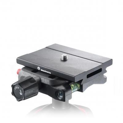 Manfrotto statief accessoire: Q6 Top Lock quick release adaptor, complete w/ plate - Zwart