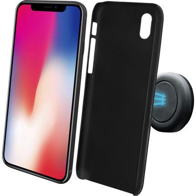 Azuri Magnetische backcover met magnetische auto- zwart - voor iPhone X/Xs Houder
