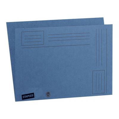 Staples map: Vouwmap SPLS A4 karton blauw/doos 100