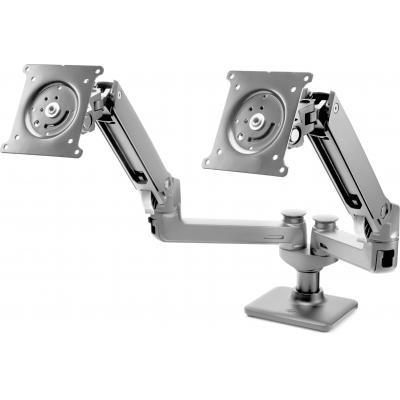 Hp monitorarm: Hot Desk-arm voor 2e monitor - Zwart (Demo model)