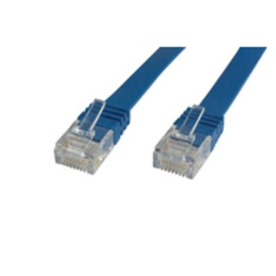 Microconnect V-UTP605B-FLAT, CAT6, UTP, 5 m, Blue Netwerkkabel - Blauw