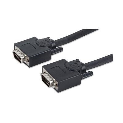 Manhattan 312776 VGA kabel  - Zwart