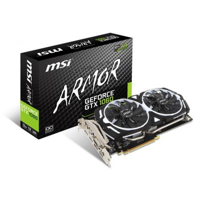 Msi videokaart: GeForce GTX 1060 ARMOR 3G OCV1 - Multi kleuren