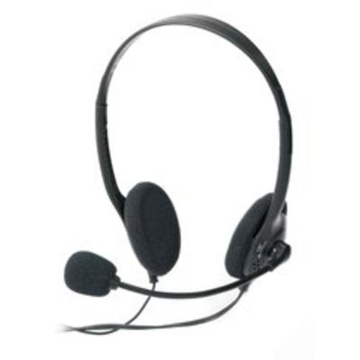 Ednet Headset Headset - Zwart